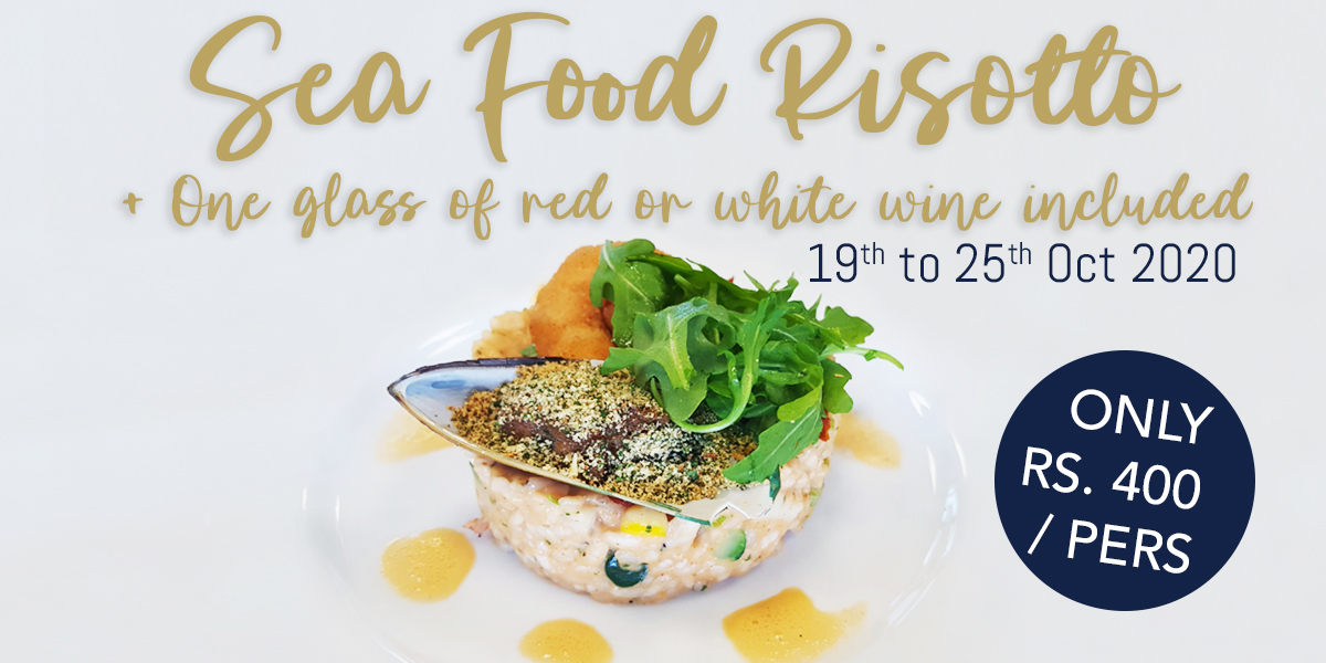Seafood Risotto Promo